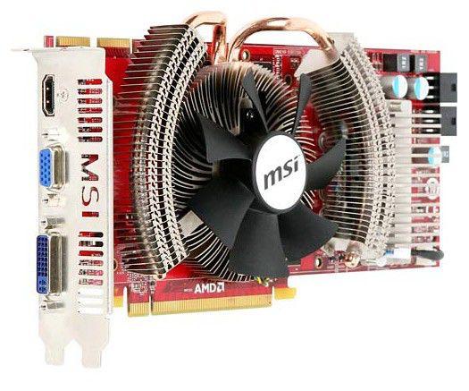 Видеокарта MSI Radeon HD 4870,  1Гб, DDR5, Ret [r4870 cyclone]