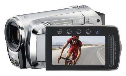 Видеокамера JVC GZ-MS120SER, серебристый,  Flash