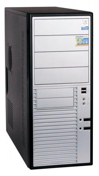 Корпус ATX FOXCONN TLA-476, 400Вт,  черный и серебристый
