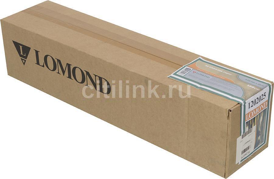 """Бумага Lomond 1202025 24""""(A1) 610мм-30м/120г/м2/белый матовое для струйной печати втулка:50.8мм (2"""")"""