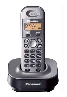 Радиотелефон PANASONIC KX-TG1411RUM,  серый металлик