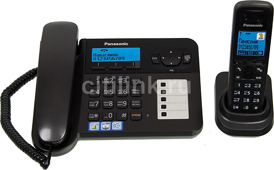 Радиотелефон PANASONIC KX-TG6451RUT,  темно-серый металлик