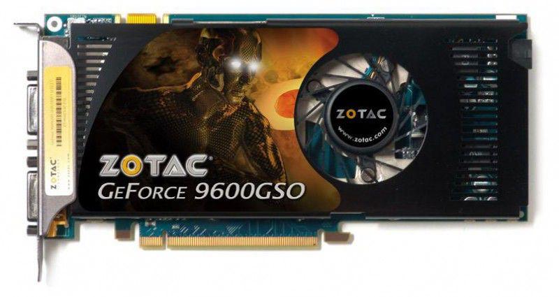 Видеокарта ZOTAC GeForce 9600 GSO,  1Гб, DDR3, Ret [zt-96sey4p-fsl]