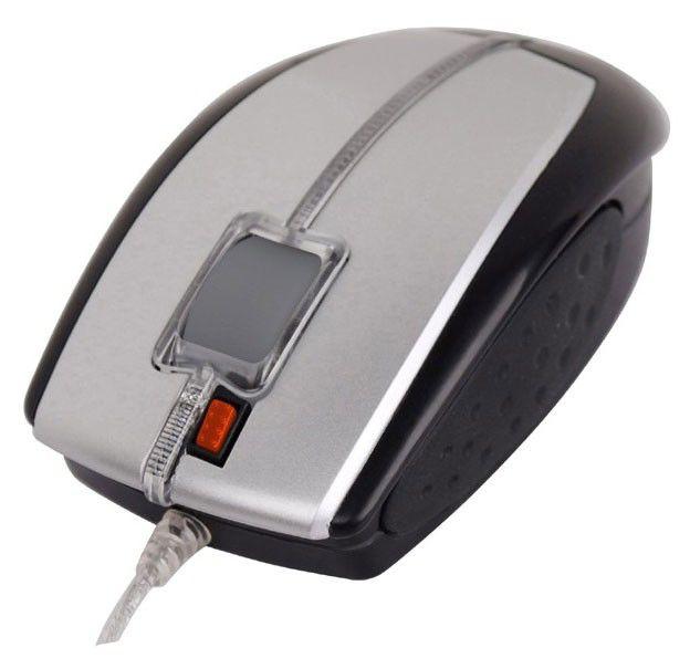Мышь A4 X5-22D-1 оптическая проводная USB, серебристый и черный