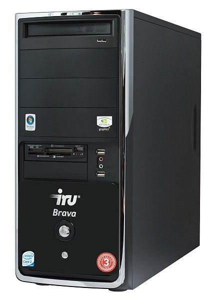 IRU Brava Home 126W,  Intel  Core2 Quad  Q8200,  DDR2 4Гб, 320Гб,  nVIDIA GeForce GTS 250 - 512 Мб,  DVD-RW,  CR,  Windows Vista Home Premium,  черный