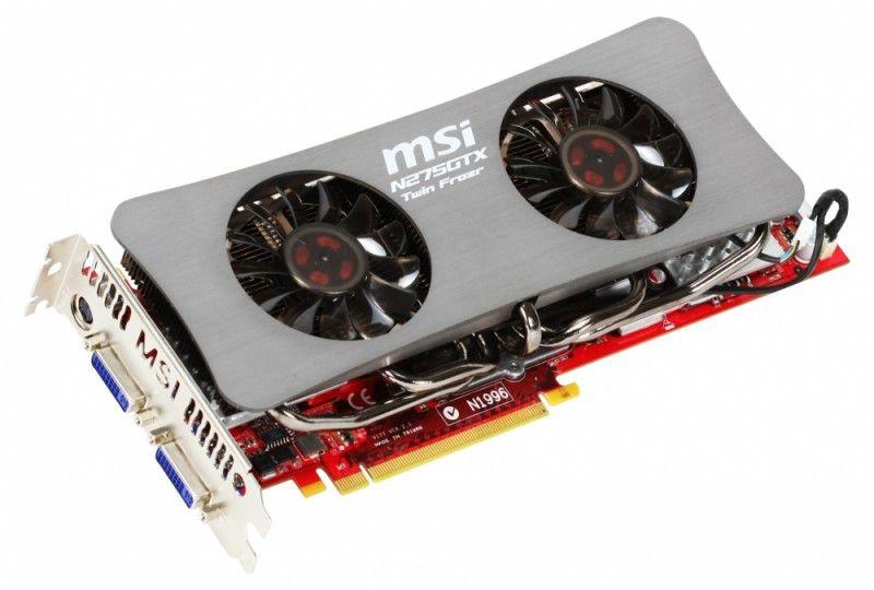 Видеокарта MSI GeForce GTX 275,  896Мб, DDR3, OC,  Ret [n275gtx-twin frozr oc]