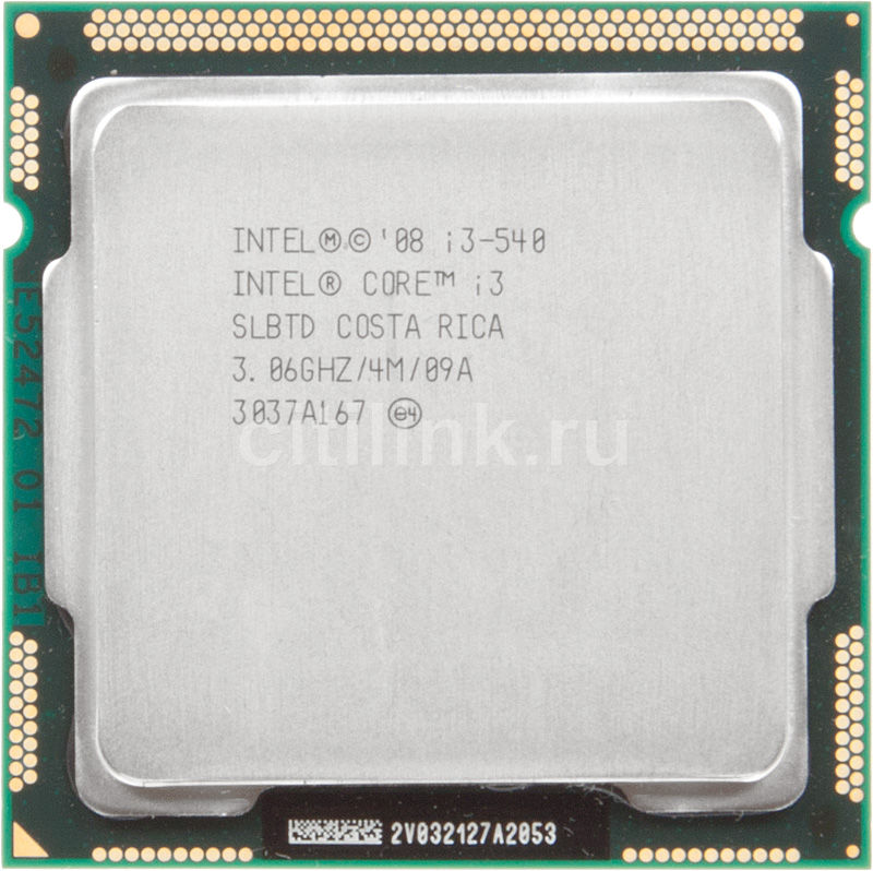 Процессор INTEL Core i3 540, LGA 1156 OEM [cm80616003060aes lbmq]