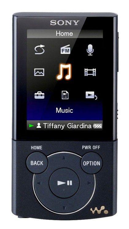 MP3 плеер SONY NWZ-E445B flash 16Гб черный [nwze445b.cev]