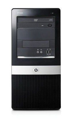HP dx2420MT,  Intel  Celeron  E3200,  DDR2 1Гб, 160Гб,  Intel GMA X3100,  DVD-RW,  CR,  Windows XP Professional,  черный [vc508ea]