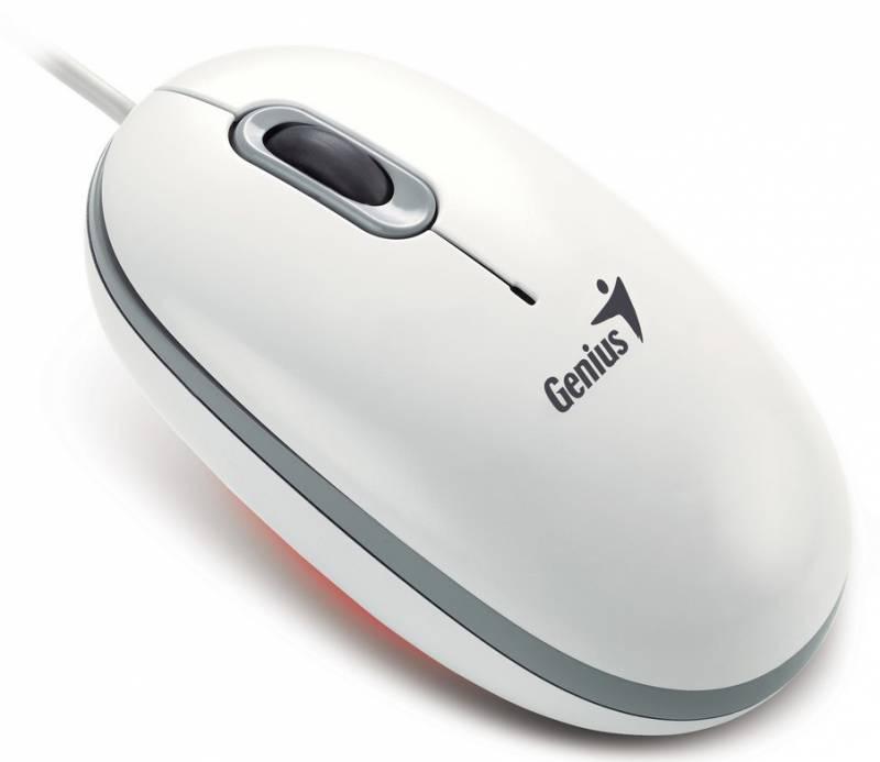 Мышь GENIUS ScrollToo 200 оптическая проводная USB, белый [31010090102]