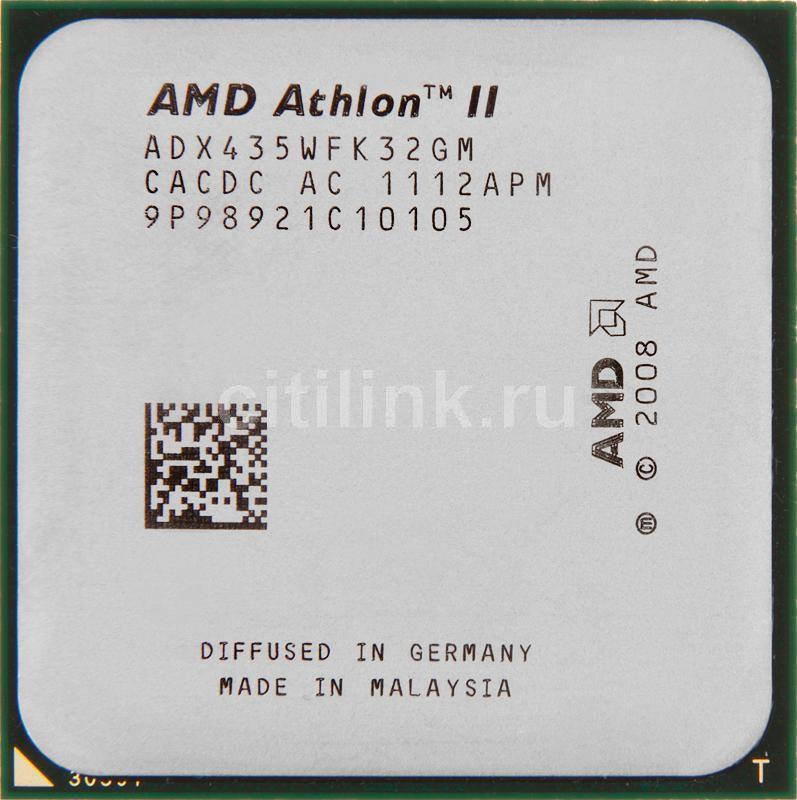 Процессор AMD Athlon II X3 435, SocketAM3 OEM [adx435wfk32gi]