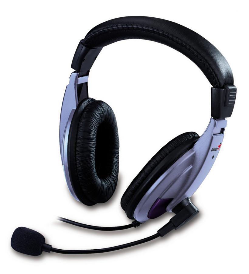 Моно гарнитура GENIUS HS-04A,  мониторы, пурпурный