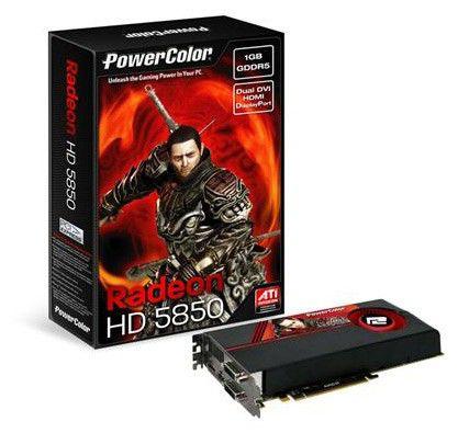 Видеокарта POWERCOLOR Radeon HD 5850,  1Гб, DDR5, Ret [ax5850 1gbd5-mdh]