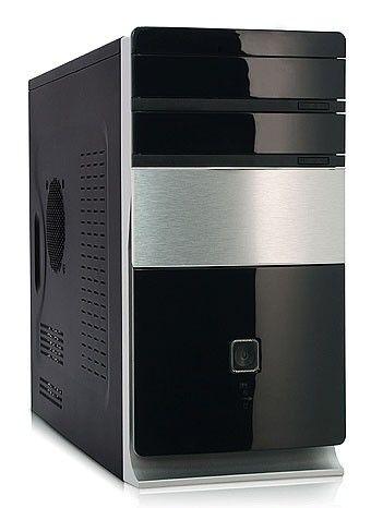 Корпус mATX FOXCONN TLM-725, 350Вт,  черный и серебристый