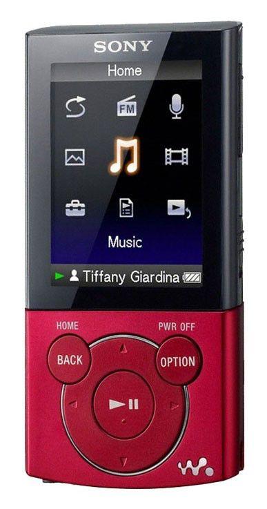 MP3 плеер SONY NWZ-E443R flash 4Гб красный [nwze443r]