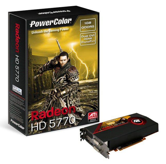 Видеокарта POWERCOLOR AMD  Radeon HD 5770 ,  1Гб, DDR5, Ret [ax5770 1gbd5-mdh]