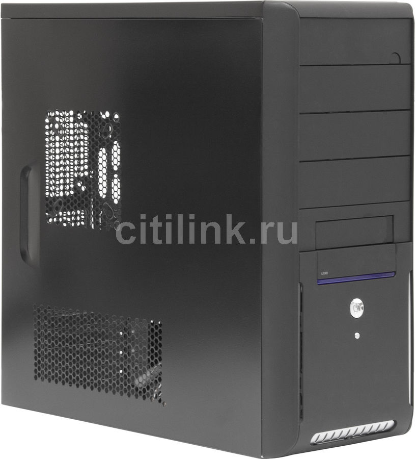 Корпус ATX EZCOOL N3-880B, Midi-Tower, без БП,  черный
