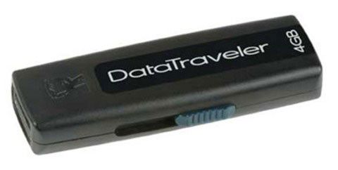 Флешка USB KINGSTON DataTraveler 100 4Гб, USB2.0, 4шт, черный [dt100/4gb-4p]