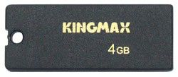 Флешка USB KINGMAX Super Stick Mini 4Гб, USB2.0, черный