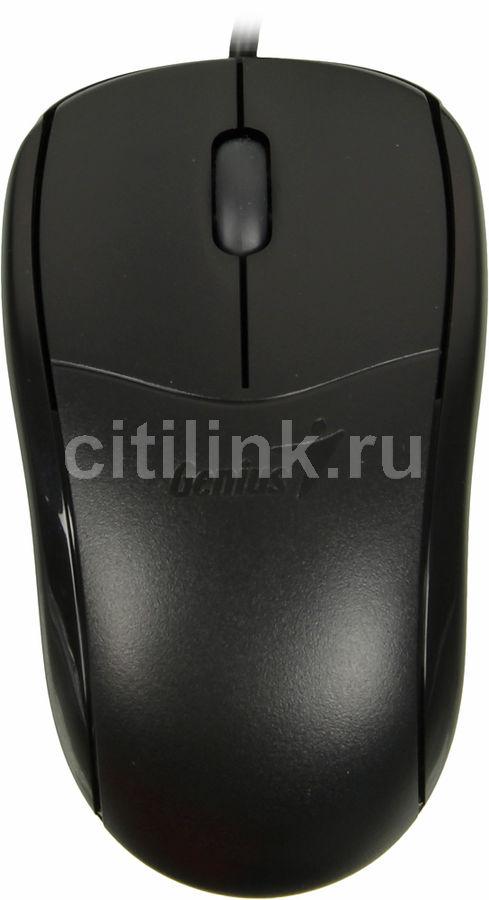Мышь GENIUS NetScroll 110X оптическая проводная USB, черный [31010585101]