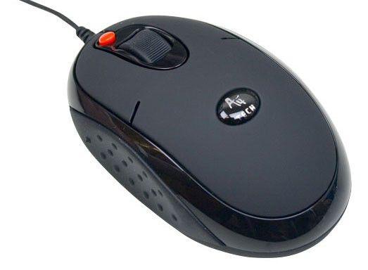 Мышь A4 X6-20MD лазерная проводная USB, черный [x6-20md (black) u]