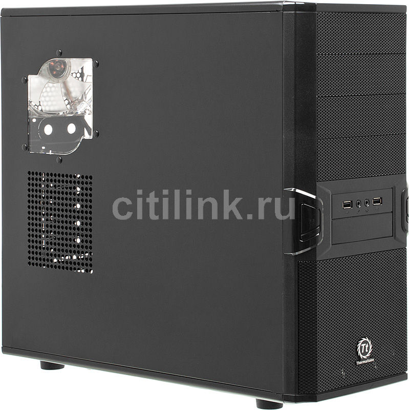 Корпус ATX THERMALTAKE V3 VL80001W2ZA, Midi-Tower, без БП,  черный