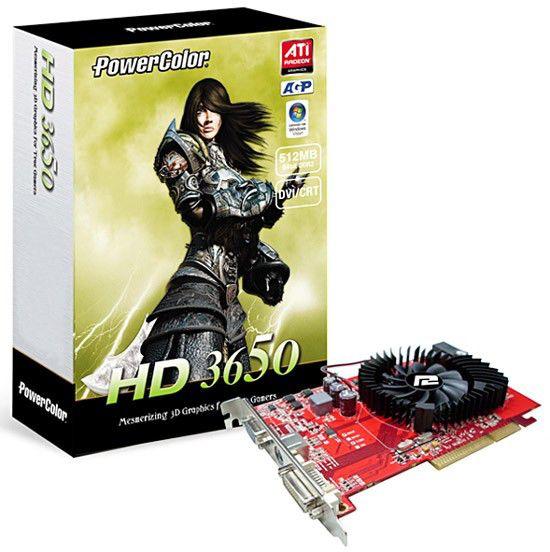 Видеокарта POWERCOLOR Radeon HD 3650,  512Мб, DDR2, oem [ag3650 512md2-v3]
