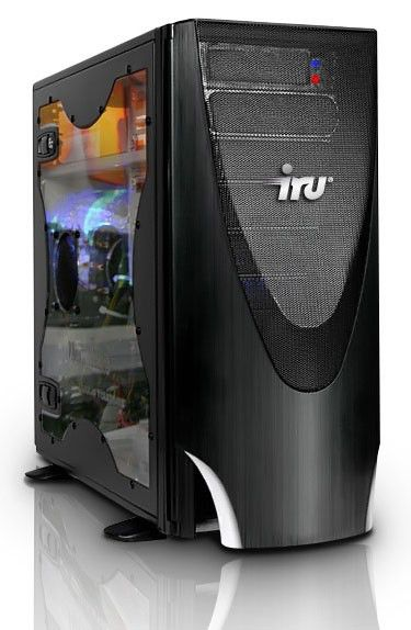IRU BRAVA 711,  Intel  Core i7  920,  12Гб, 1000Гб,  2 х nVIDIA GeForce GTX 295 - 1792 Мб,  Blu-Ray,  CR,  Windows 7 Home Premium,  черный