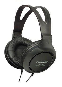 Наушники PANASONIC RP-HT161E-K, мониторы,  черный, проводные