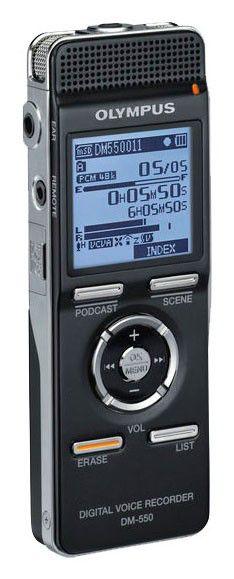Диктофон OLYMPUS DM-550 4 Gb,  черный [n2283421]