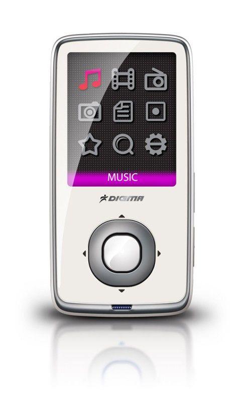 MP3 плеер DIGMA Insomnia2 mini flash 8Гб белый