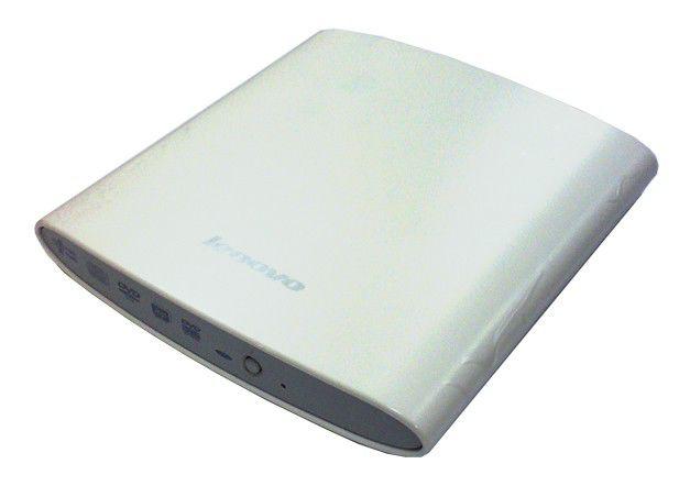 Оптический привод DVD-RW LENOVO GP20N, внешний, USB, белый,  OEM [888009623]