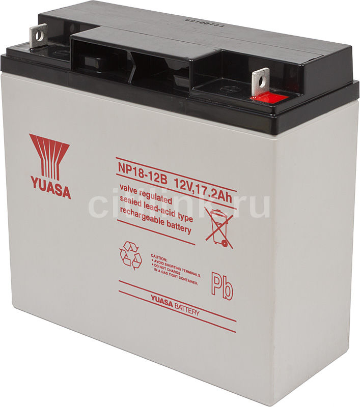 Батарея для ИБП YUASA NP18-12  12В,  17.2Ач