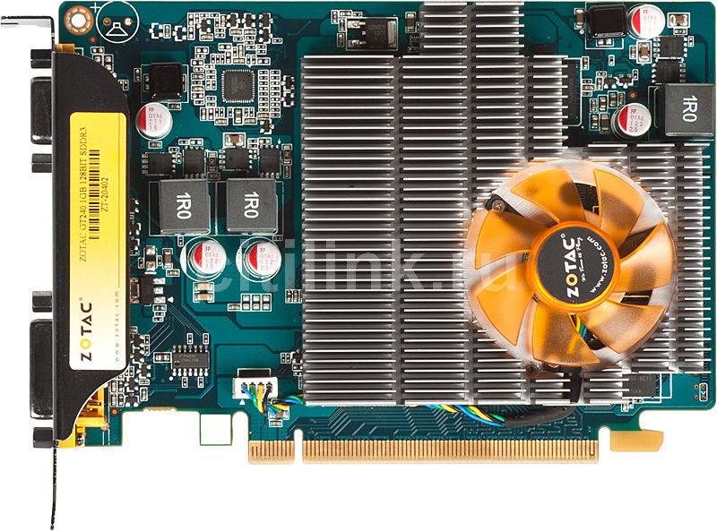 Видеокарта ZOTAC GeForce GT 240,  1Гб, DDR3, Ret [zt-20402-10l]