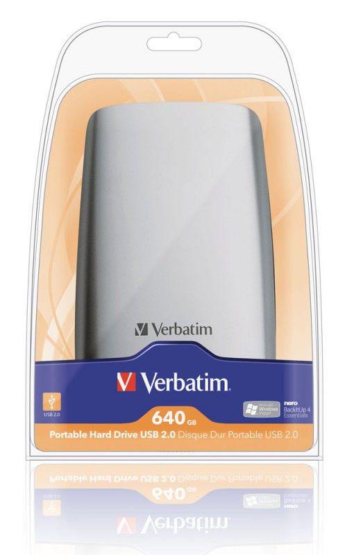 Внешний жесткий диск VERBATIM 47631, 640Гб, серебристый