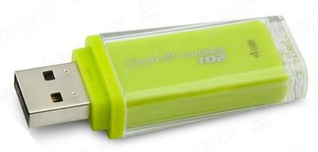 Флешка USB KINGSTON DataTraveler 102 4Гб, USB2.0, желтый [dt102/4gb]