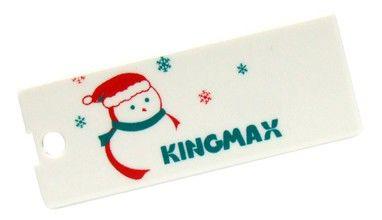 Флешка USB KINGMAX Super Stick Mini Snow Man 2Гб, USB2.0, белый и Рождество