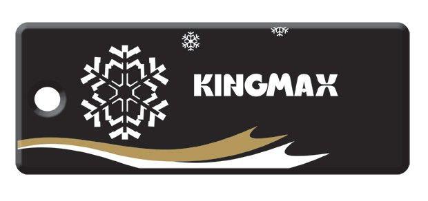Флешка USB KINGMAX Super Stick Mini Snow Flow 4Гб, USB2.0, черный и Рождество