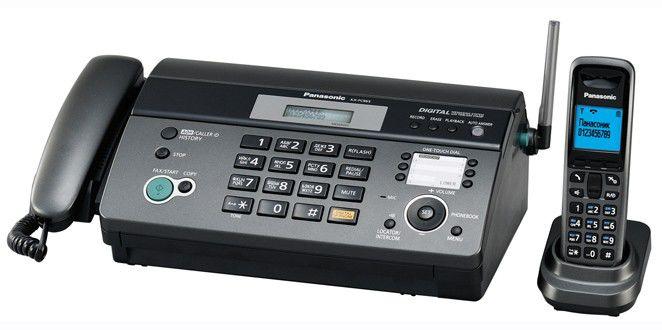Факс PANASONIC KX-FC965RU-T,  на термобумаге,  темно-серый металлик