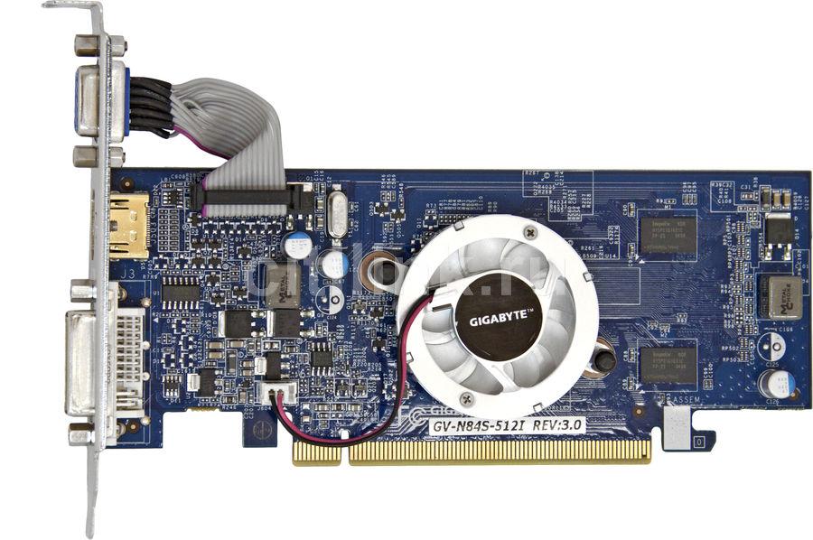 Видеокарта GIGABYTE GeForce 8400 GS,  512Мб, GDDR2, Low Profile,  Ret [gv-n84s512i]