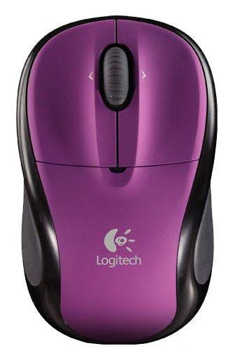 Мышь LOGITECH M305 оптическая беспроводная USB, фиолетовый и черный [910-001641]
