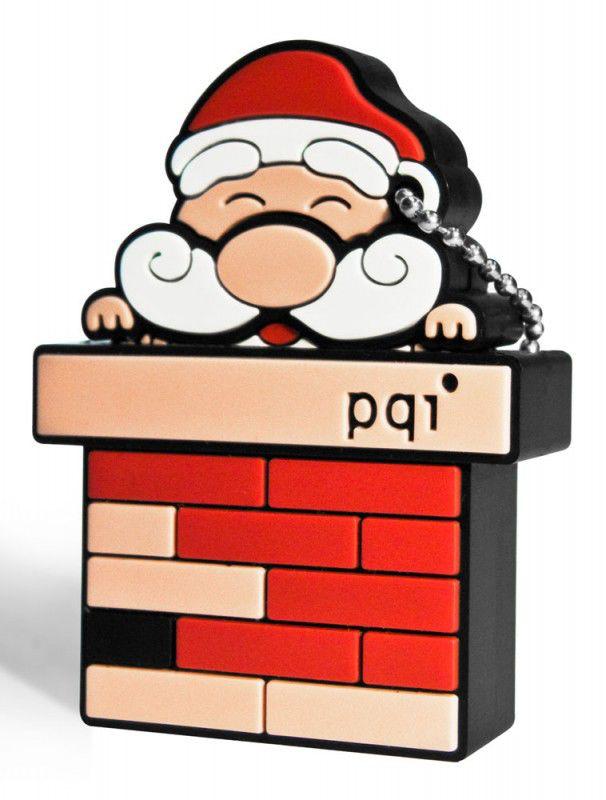 Флешка USB PQI Intelligent Drive U825 4Гб, USB2.0, красный и Рождество