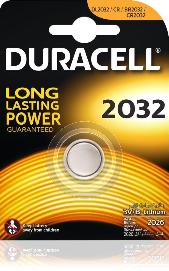 Батарейка DURACELL DL2032,  1 шт. CR2032