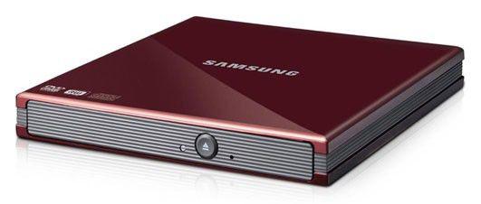 Оптический привод DVD-RW SAMSUNG SE-S084C/USRS, внешний, USB, красный,  Ret