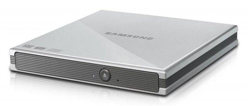 Оптический привод DVD-RW SAMSUNG SE-S084C/USSS, внешний, USB, серебристый,  Ret