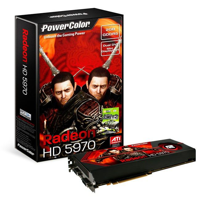 Видеокарта POWERCOLOR HD5970,  2Гб, GDDR5, Ret