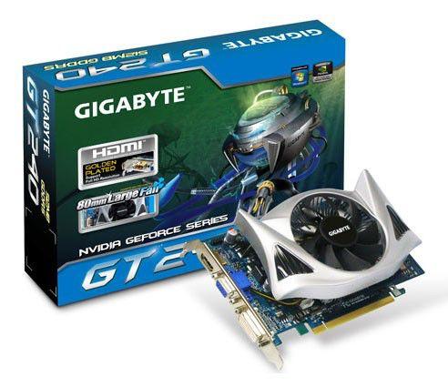 Видеокарта GIGABYTE GeForce GT 240,  512Мб, GDDR5, Ret [gv-n240d5-512i]