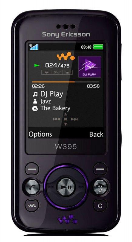 Музыкальный телефон SONYERICSSON W395  черный