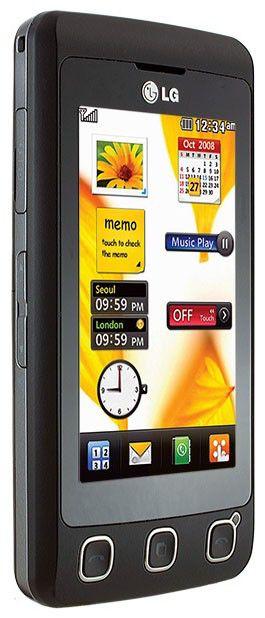 Мобильный телефон LG KP 500  черный