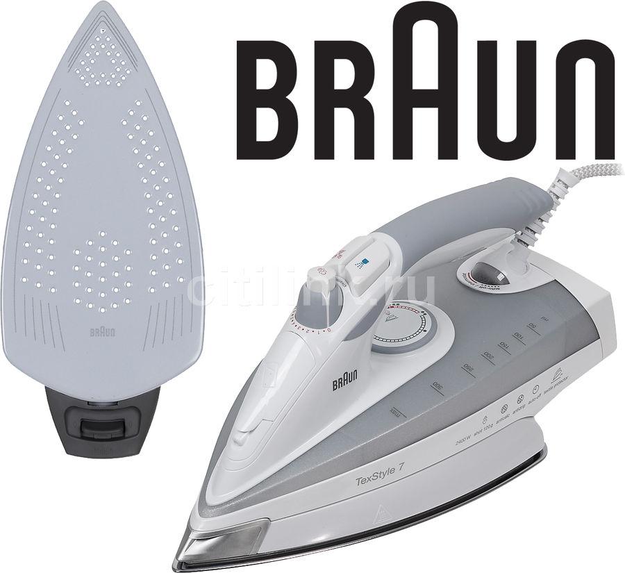 Утюг BRAUN SI 770/18895,  2400Вт,  серый [si770/18895]